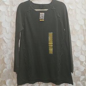 Womens tunic length sweater